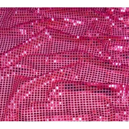 tissu paillettes fuchsia largeur 110cm x 50cm