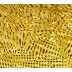 tissu paillettes jaune largeur 110cm x 50cm