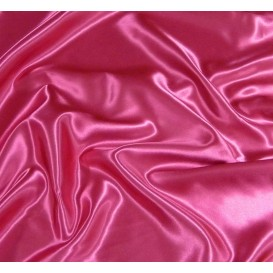 tissu satin fuchsia largeur 150cm x 50cm