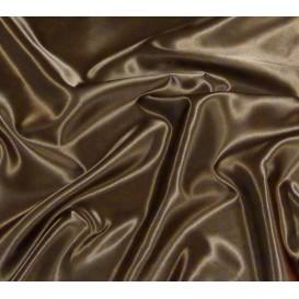 tissu satin chocolat largeur 150cm x 50cm