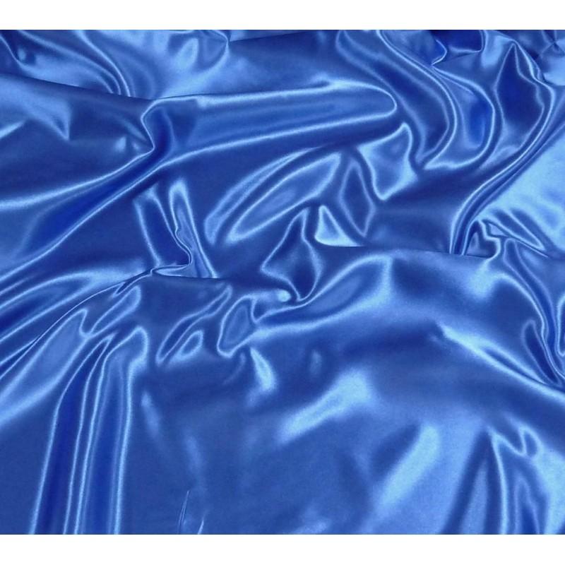 tissu satin bleu roi largeur 150cm x 50cm. Black Bedroom Furniture Sets. Home Design Ideas