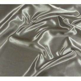tissu satin gris largeur 150cm x 50cm