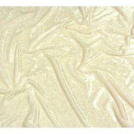 tissu panne de velours écru largeur 150cm x 50cm
