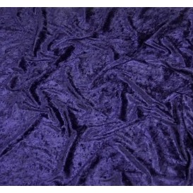 tissu panne de velours bleu marine largeur 150cm x 50cm