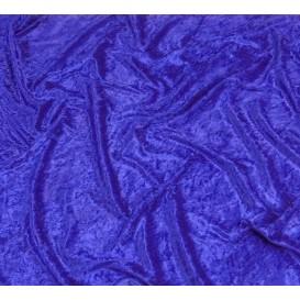 tissu panne de velours bleu roi largeur 150cm x 50cm