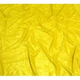 tissu panne de velours jaune largeur 150cm x 50cm