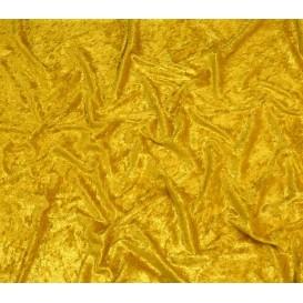 tissu panne de velours or largeur 150cm x 50cm