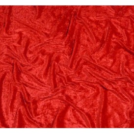 tissu panne de velours rouge largeur 150cm x 50cm