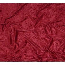 tissu panne de velours bordeaux largeur 150cm x 50cm