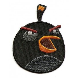 écusson angry birds oiseau noir thermocollant