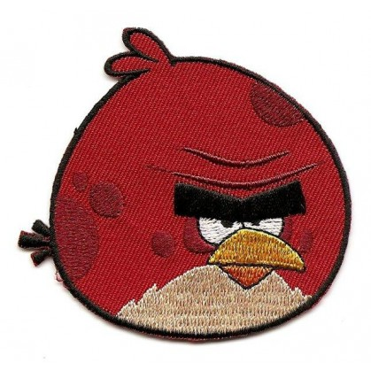 Cusson angry birds gros oiseau rouge thermocollant - Angry birds rouge ...