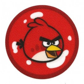 écusson angry birds rond oiseau rouge thermocollant