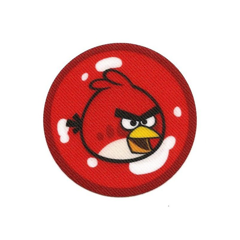 Cusson angry birds rond oiseau rouge thermocollant - Angry birds rouge ...