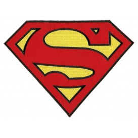 écusson grand symbole superman thermocollant