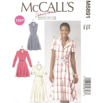 patron robes et ceinture McCall's M6891