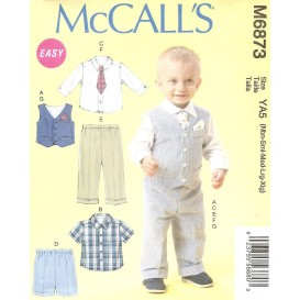patron enfant gilet, chemises, pantalon McCall's M6873