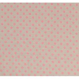 tissu coton gris pois rose 6mm largeur 150cm x 50cm