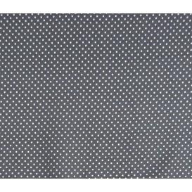 tissu coton gris foncé pois 2mm largeur 150cm x 50cm