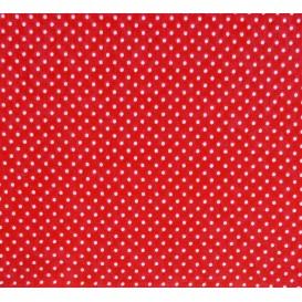 tissu coton rouge pois 2mm largeur 150cm x 50cm