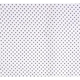 tissu coton blanc pois noir 2mm largeur 150cm x 50cm