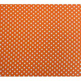 tissu coton orange coeurs 5mm largeur 147cm x 50cm