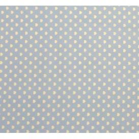 tissu coton bleu clair coeurs 5mm largeur 147cm x 50cm
