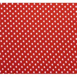 tissu coton rouge coeurs 5mm largeur 147cm x 50cm