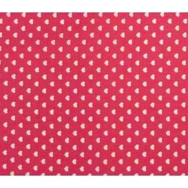 tissu coton fuchsia coeurs 5mm largeur 147cm x 50cm