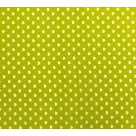 tissu coton anis coeurs 5mm largeur 147cm x 50cm
