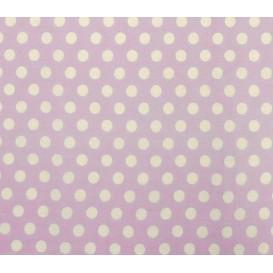 tissu coton lilas pois 9mm largeur 150cm x 50cm