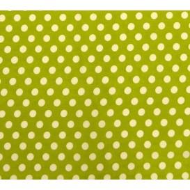 tissu coton anis pois 9mm largeur 150cm x 50cm