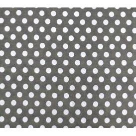 tissu coton gris foncé pois 9mm largeur 150cm x 50cm