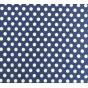 tissu coton bleu roi pois 9mm largeur 150cm x 50cm