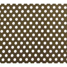 tissu coton marron pois 9mm largeur 150cm x 50cm