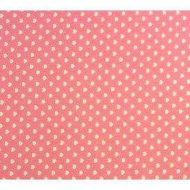 tissu coton rose coeurs 5mm largeur 147cm x 50cm