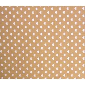 tissu coton noisette coeurs 5mm largeur 147cm x 50cm