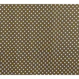 tissu coton marron pois 2mm largeur 150cm x 50cm