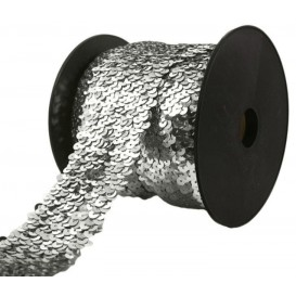 galon à paillettes élastique 50mm x 50cm