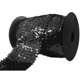 galon à paillettes élastique 80mm x 50cm