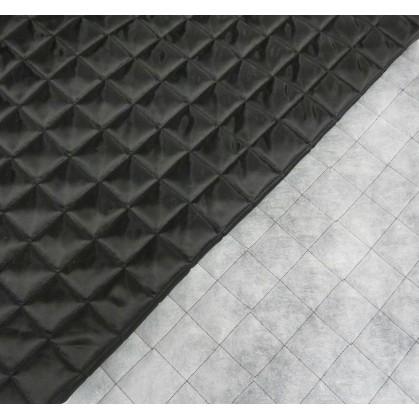 tissu doublure matelassée noir largeur 150cm x 50cm