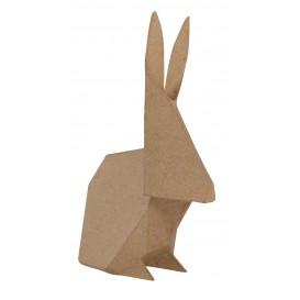 lapin origami papier mâché décopatch 6,5x12x19cm