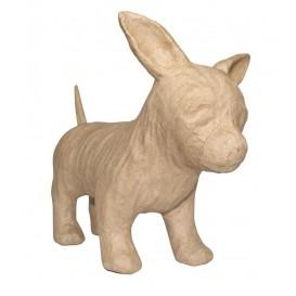 chien chiwawa papier mâché décopatch 10x23,5x19cm