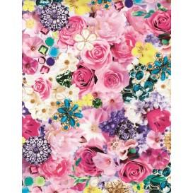 feuille décopatch fleurs et bijoux