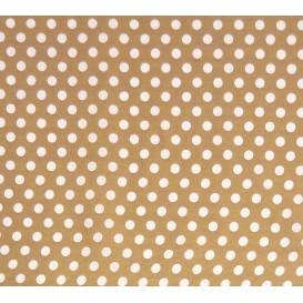 tissu coton noisette pois 9mm largeur 150cm x 50cm