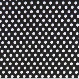 tissu coton noir pois 9mm largeur 150cm x 50cm