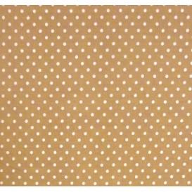 tissu coton noisette pois 2mm largeur 150cm x 50cm