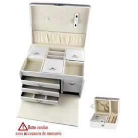 boîte à couture blanche 26,5x19,5x16cm