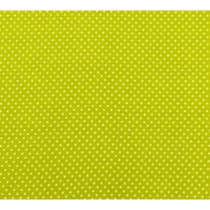 tissu coton anis pois 2mm largeur 150cm x 50cm