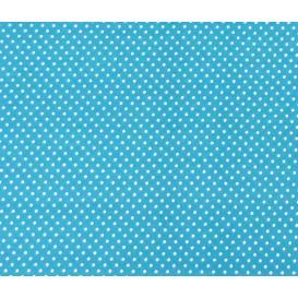 tissu coton turquoise pois 2mm largeur 150cm x 50cm