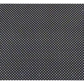 tissu coton noir pois 2mm largeur 150cm x 50cm